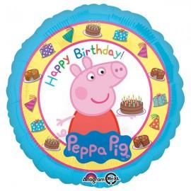 45cm Peppa Pig Happy Birthday & Cake