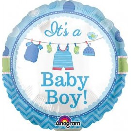 22cm It's a Baby Boy Shower with Love (Inflated)