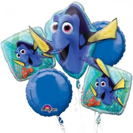 Finding Dory Bouquet 1 x Shape & 4 x 45cm