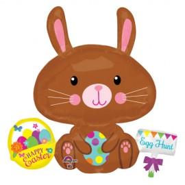 Shape Easter Bunny Rabbit & Basket of Eggs