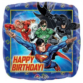 45cm Justice League Happy Birthday Square