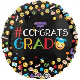45cm # Congrats Grad Emoji Smiley Faces