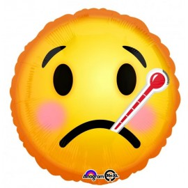 45cm Emoji Face Get Well Soon & Thermometer