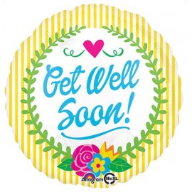 45cm Get Well Soon Laurel Flowers
