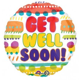 45cm Get Well Soon Fun Patterns