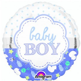 22cm Baby Boy Scallop Design (Inflated)