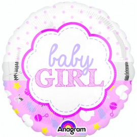 22cm Baby Girl Scallop Design (Flat)