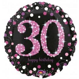 45cm 30th Birthday Pink Celebration Holographic