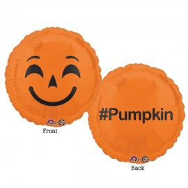 45cm Emoji Face Pumpkin #Pumpkin