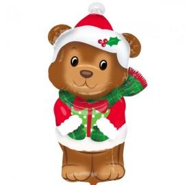 Junior Shape Christmas Bear 43cm x 73cm