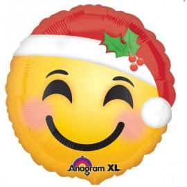45cm Emoji Face Santa Hat