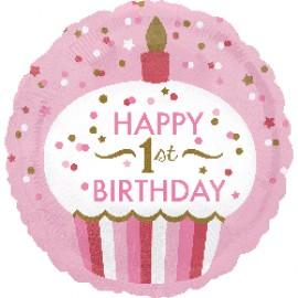 45cm Happy 1st Birthday Cupcake Girl