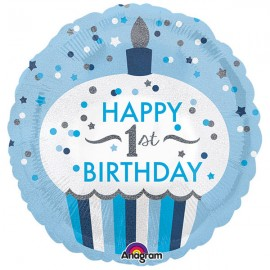 45cm Happy 1st Birthday Cupcake Boy