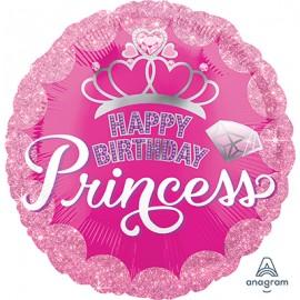 45cm Happy Birthday Princess Crown & Gems