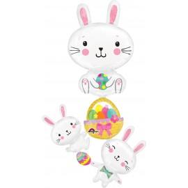 Shape Easter Bunny Stacker & Eggs Over 5ft Tall