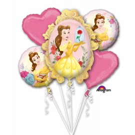 Beauty & The Beast Bouquet 1 x Super Shape & 4 x 45cm