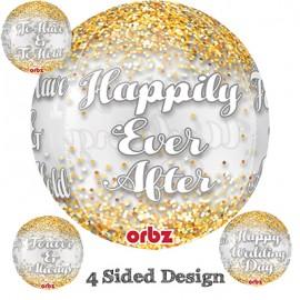 Shape Orbz Wedding Confetti 4 Sided Design 38cm x 40cm