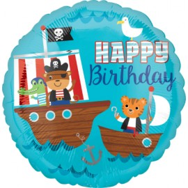 45cm Pirate Ship Happy Birthday & Characters