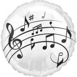 45cm Music Fun Notes Black & White