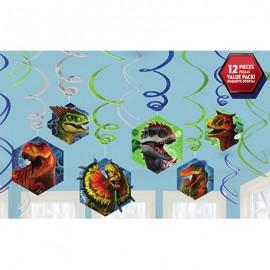Jurassic World Hanging Swirls Decorations Value Pack